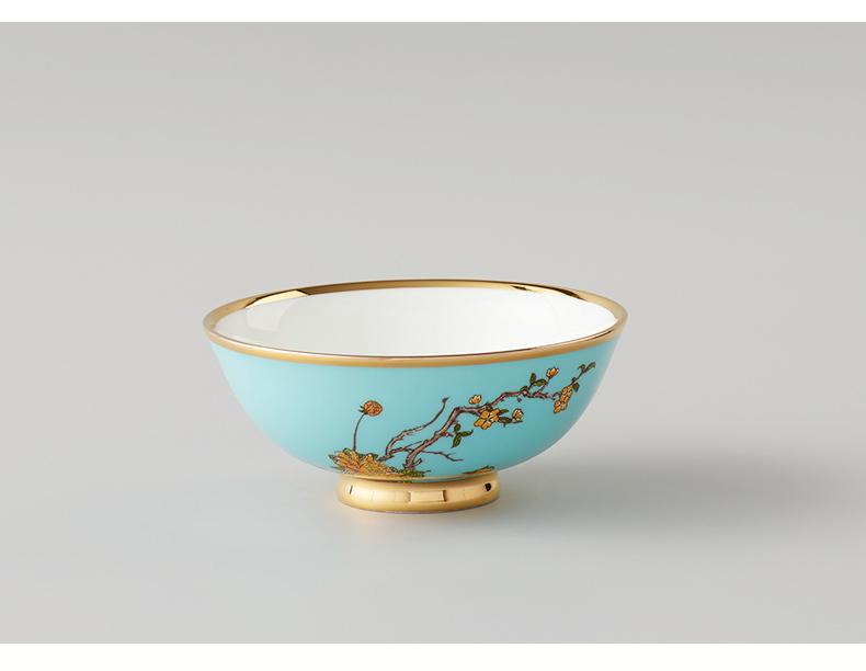 国瓷永丰源 夫人瓷西湖蓝餐具